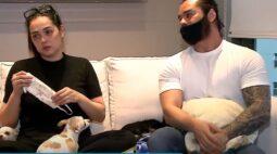 """Empresária que fez desafio com cachorros revela que ideia foi do marido: """"Na hora topei"""""""