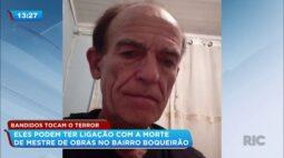 Bandidos tocam o terror: eles podem ter ligação com a morte de mestre de obras no bairro Boqueirão