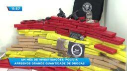 Um mês de investigações: Polícia apreende grande quantidade de drogas