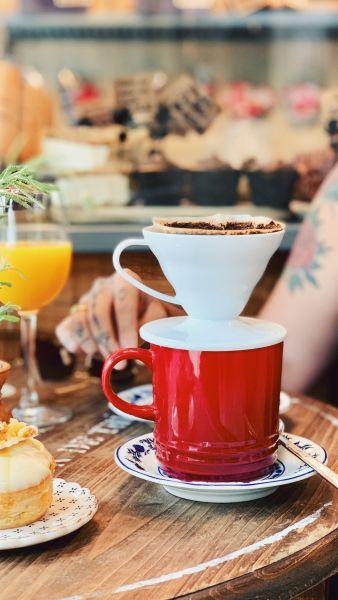 é possível tomar café em Balneário Camboriú com um expresso feito na hora da Pão Rústico