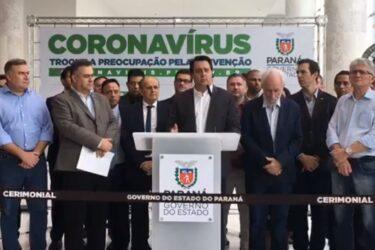 Ratinho Júnior vai anunciar novas medidas contra o Coronavírus