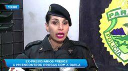 Ex presidiários presos: a PM encontrou drogas com a dupla