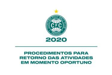 Coritiba apresenta procedimentos para o retorno das atividades ao secretário da saúde