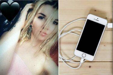 Mulher morre ao usar o celular plugado na tomada enquanto toma banho