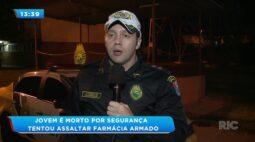 Jovem é morto por segurança tentou assaltar farmácia armado
