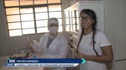 Testes rápidos: começa testagem de moradores em Maringá
