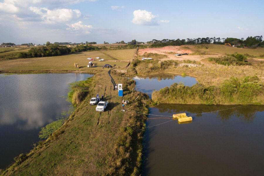 Sanepar faz captação emergencial de água em Fazenda Rio Grande