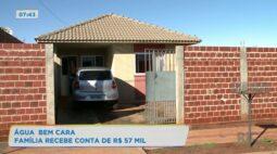 Água bem cara: família recebe conta de R$ 57 mil