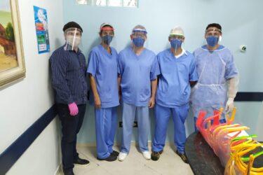 Clube da Robótica alcança a produção de 300 máscaras para doação