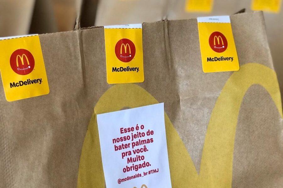 Hospitais de Curitiba recebem quase mil lanches do McDonald's para profissionais do combate ao coronavírus