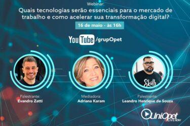 UniOpet lança projeto online para debater educação, tecnologia e mercado de trabalho