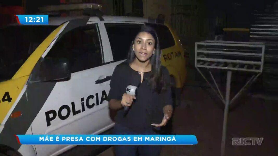 Mãe é presa na presença dos 3 filhos portando drogas