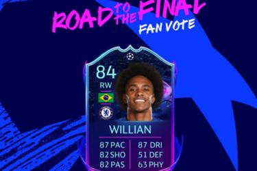 Fãs escolhem Willian para ganhar carta especial no Fifa Ultimate Team