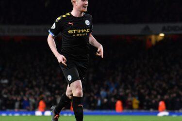 De Bruyne dá show e City atropela o Arsenal fora de casa pelo Campeonato Inglês