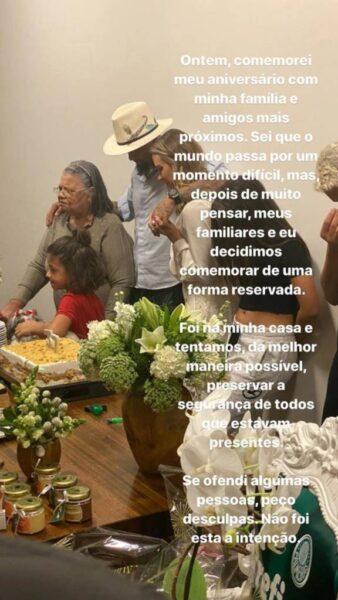 Felipe Melo pede desculpas após festa de aniversário com amigos e família