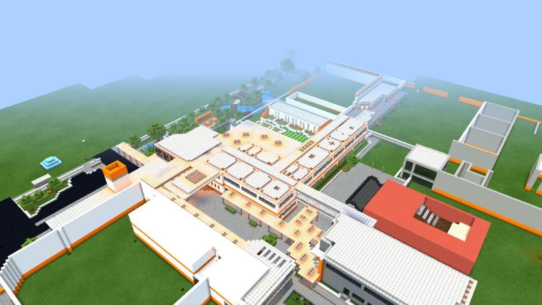 Com saudades da escola, jovem de 15 anos reproduz estrutura no Minecraft