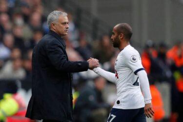 Lucas comemora gol decisivo e elogia chegada de Mourinho no Tottenham