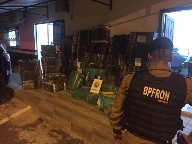 Mais de uma tonelada e meia de maconha é apreendida pelo BPFron