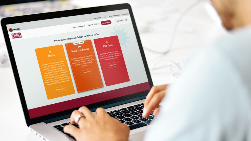 Prefeitura de Curitiba lança novo site com informações sobre pandemia