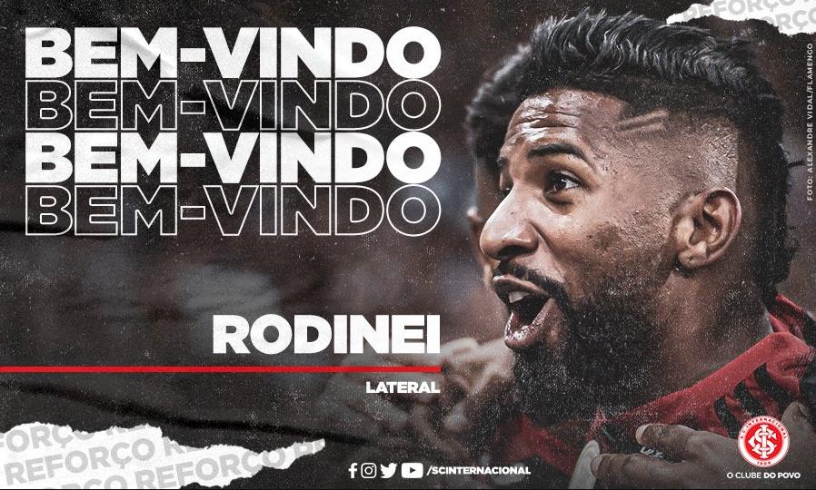 Internacional anuncia oficialmente a contratação de Rodinei