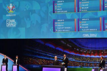 Veja as fotos da cerimônia de sorteio dos grupos da Eurocopa 2020