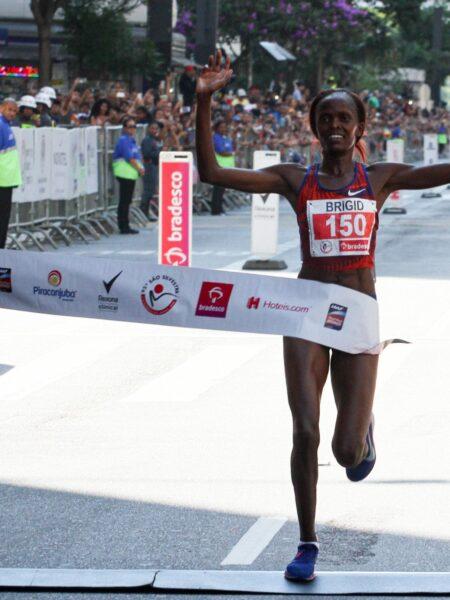Recordista mundial ganha a prova