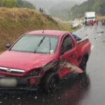 Acidente com seis veículos deixa dois mortos na BR-277, em Teixeira Soares