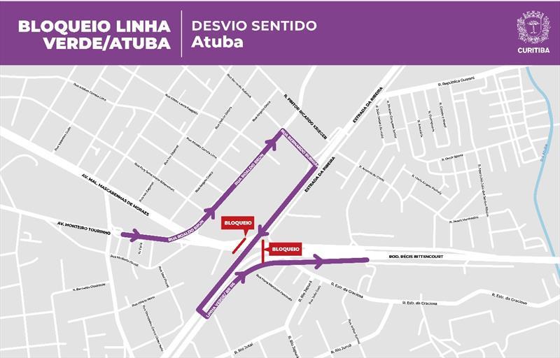 Ruas do bairro Atuba com acesso à Linha Verde terão sentido único em Curitiba