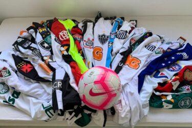 Árbitros do futebol paranaense promovem ação com camisas de clubes para ajudar instituições