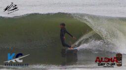 Kauã Carvalho pega altas ondas no final do outono em Matinhos