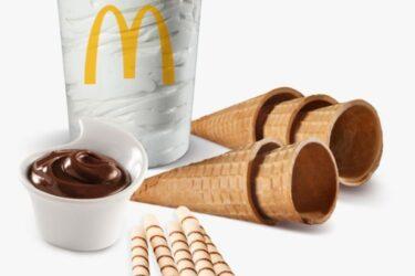 McDonald's lança kits para levar e comer casquinha de sorvete em casa
