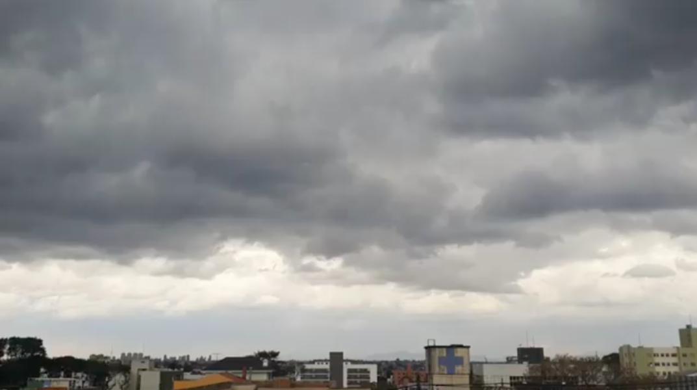 Vento forte provoca quedas de árvores; chuva deve continuar até sábado em Curitiba