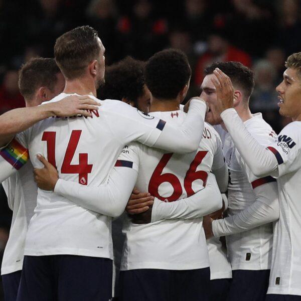 Liverpool vence Bournemouth e amplia sequência invicta no Inglês