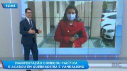 Manifestação começou pacífica e acabou em quebradeira e vandalismo em Curitiba