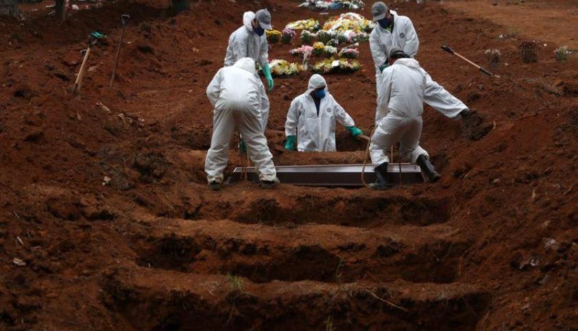 Brasil tem 1.280 novas mortes por coronavírus em 24h, total chega a 59.594