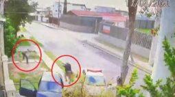Câmeras flagram perseguição que terminou com suspeito baleado, em Curitiba