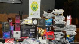 Mais de R$ 100 mil em produtos contrabandeados são apreendidos no Noroeste