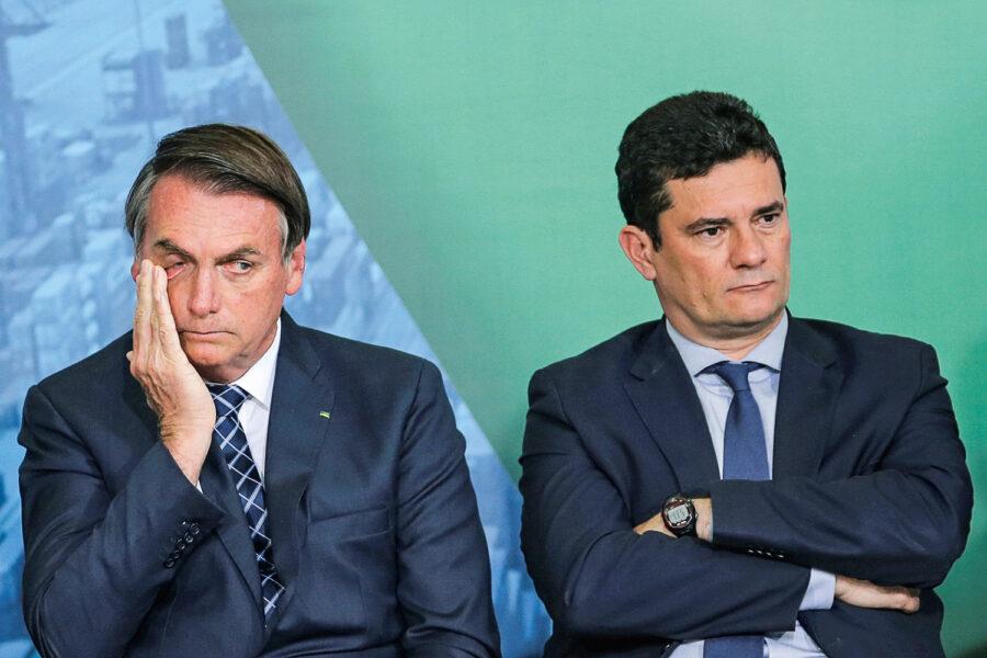 Chamado de 'covarde', Moro responde Bolsonaro