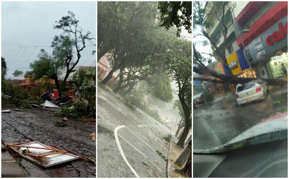 """Tempestade e ventos fortes causam destruição em Foz do Iguaçu: """"Parece filme de terror"""""""