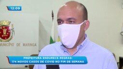 Prefeitura endurece regras: 174 novos casos de covid no fim de semana