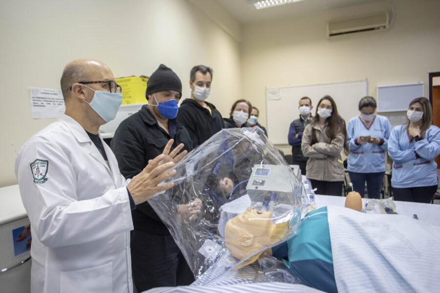 Pesquisadores da UEM desenvolvem capacete de oxigenação