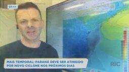Mais temporal: Paraná deve ser atingido por novo ciclone nos próximos dias