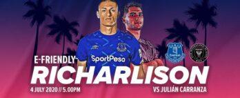 Richarlison vai representar o Everton em desafio de Fifa 20 neste sábado