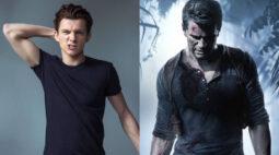 Tom Holland mostra seu novo visual para viver Nathan Drake no filme Uncharted