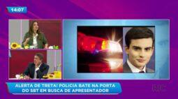 Policia bate na porta de emissora em busca de apresentador