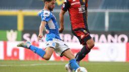 Napoli vence o Genoa e assume a quinta posição do Campeonato Italiano