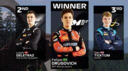 Maringaense Felipe Drugovich estreia com vitória seu primeiro GP na F2