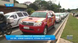 Amigos prestam homenagem ao Dr. Jorge Karigyo, vítima da covid-19