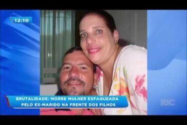 Mulher morre esfaqueada pelo ex-marido na frente dos filhos