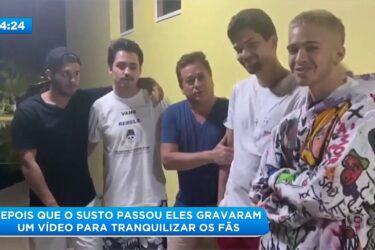 Carro com filhos de Leonardo capota e cai em córrego em Goiás